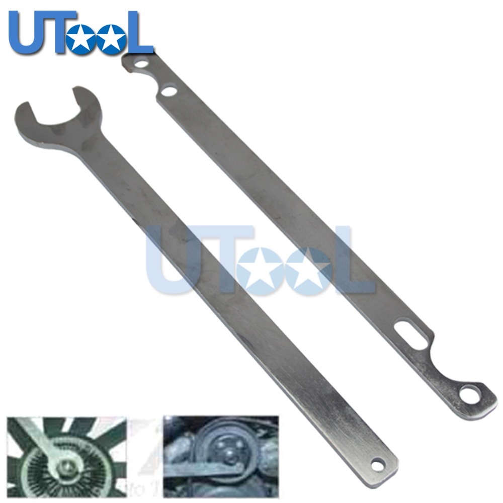 UTOOL 32mm Automotive Fan Clutch Nut Wrench Water Pump Holder Tool For BMW FORD