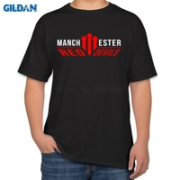 The United Kingdom Manchester Is Red Mens T Shirts 2017 Black Cotton Tshirt 2017 Size S