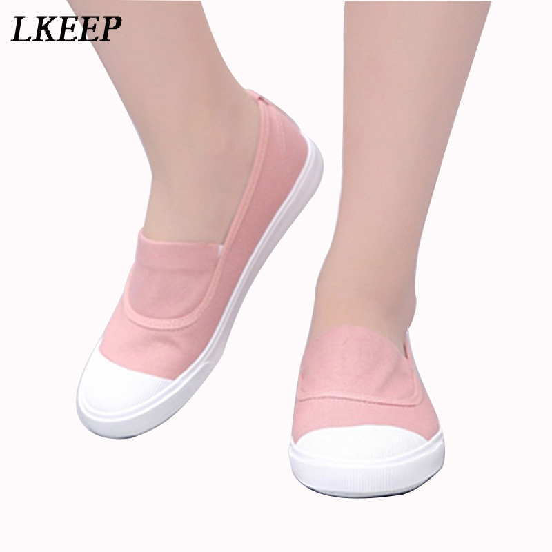 2017 summer new canvas student flat comfortable white shoes women basic casual shoes slip-on canvas walking shoes female O911255 2018 women summer slip on breathable flat shoes leisure female footwear fashion ladies canvas shoes women casual shoes hld919