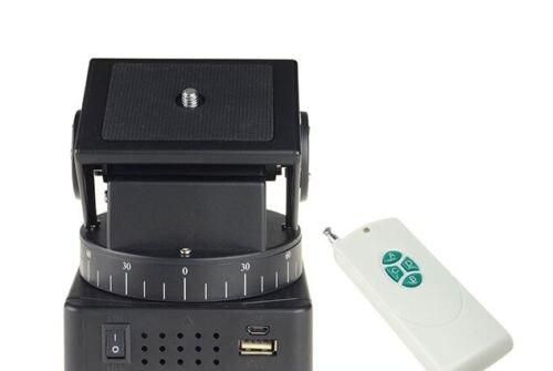 Supon YT-260 RF Télécommande RC Motorisé Pan Tilt pour Caméras Mobile Téléphones Gopro avec 1/4 pouces plaque