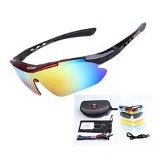 Hot Sale Polarized Cycling Glasses Men Outdoor Sport Fishing Goggles Eyewear Windproof MTB Bicycle Bike Sunglasses Myopia 5 Lens