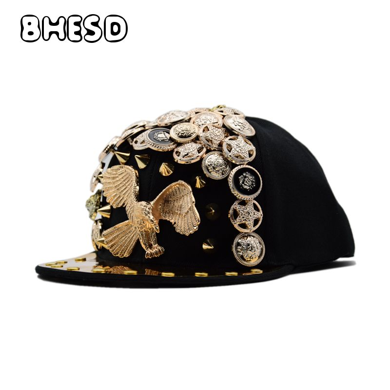 BHESD 2018 Punk Hip Hop Snapback Hat Bones Men Women Eagle Hip-Hop Caps Male Street Fashion Flat Baseball Cap Gorros Bones JY696 brand bonnet beanies knitted winter hat caps skullies winter hats for women men beanie warm baggy cap wool gorros touca hat 2017