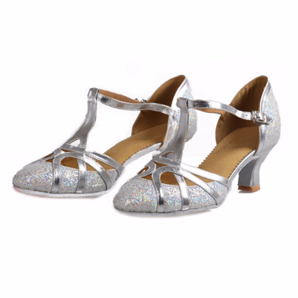 511 peta 5cm zlato srebrna svjetlucava Zapatos salsa Mujer plesna - Tenisice - Foto 5