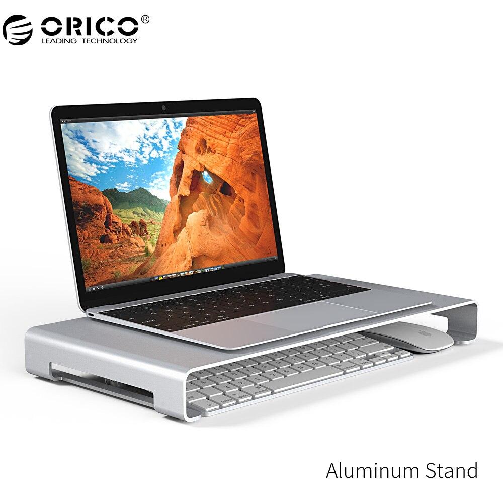 ORICO Aluminium Moniteur D'ordinateur Portable Support Universel En Aluminium Stable Moniteur D'ordinateur Portable/PC Stand, avec Clavier De Stockage