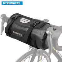 ROSWHEEL DRY 3 7L Cycling Bike Bicycle Handlebar Front Basket PVC Waterproof Bags Bike Accessories Cycle Pannier Pouch