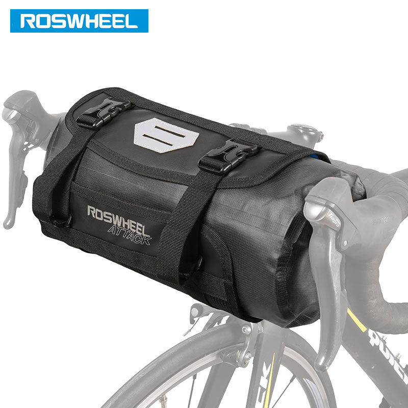 ROSWHEEL DRY 3-7L Cycling Bike Bicycle Handlebar Front Basket PVC Waterproof Bags Bike Accessories Cycle Pannier Pouch