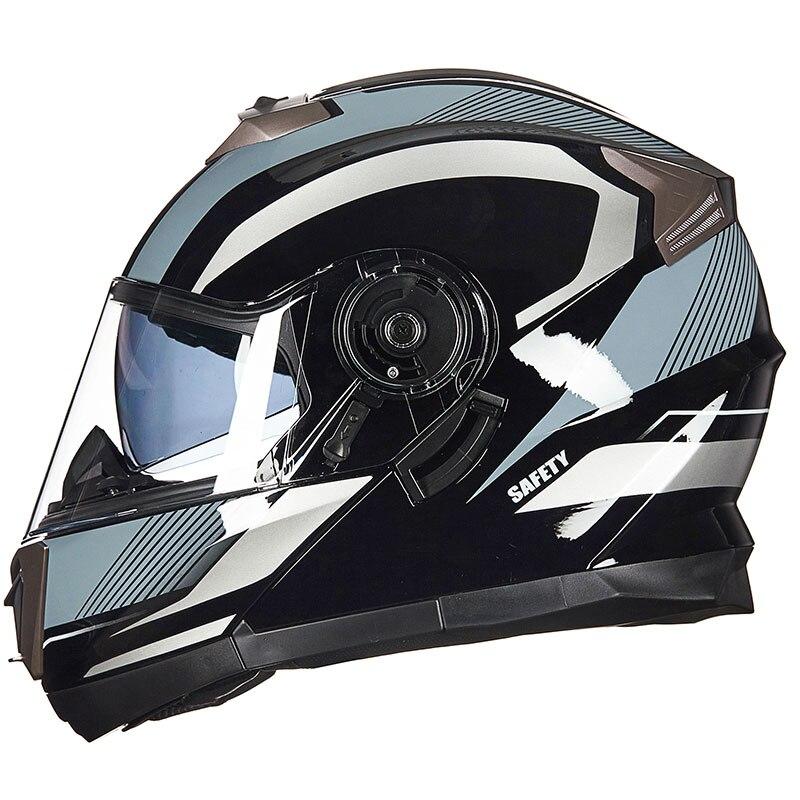 4 сезона мотоцикл GXT 160 откидной шлем двойная линза полный шлем Casco DOT ECE стикер Гонки Capacete - 4