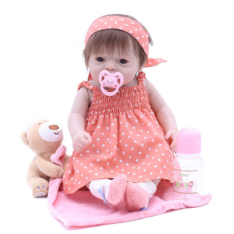 OtardDolls 20 50cm bebe reborn doll boneca New Attractive Simulation newborn baby girl with lovely baby