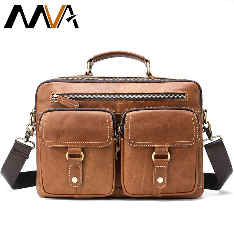 Bag Men's Genuine Leather Men Briefcase Famous Brand Men's Messenger Bags Male Laptop Duffle Bag Leather Business Briefcase 8622