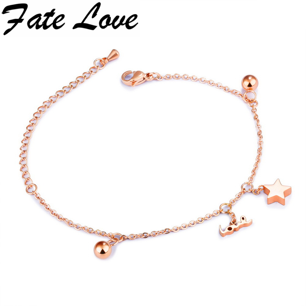 Aliexpress.com : Buy Fate Love Simple Star Chain Bracelet Korean ...