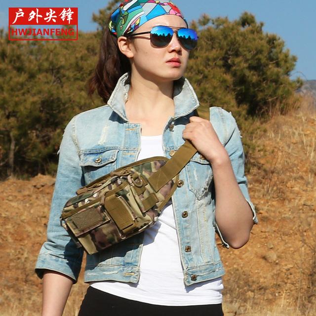 Venta caliente Nueva bolsa de camuflaje paquete de la cintura de múltiples funciones ocasional hombro bolsa de mensajero bolsa de viaje portátil envío gratis RJ9346