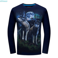 3D מודפס חולצת טי ילדי בני גברים סתיו אביב חולצת T בגדי Teen אופנה שרוול ארוך חולצות טי שחור עבור 12 16 18 שנים