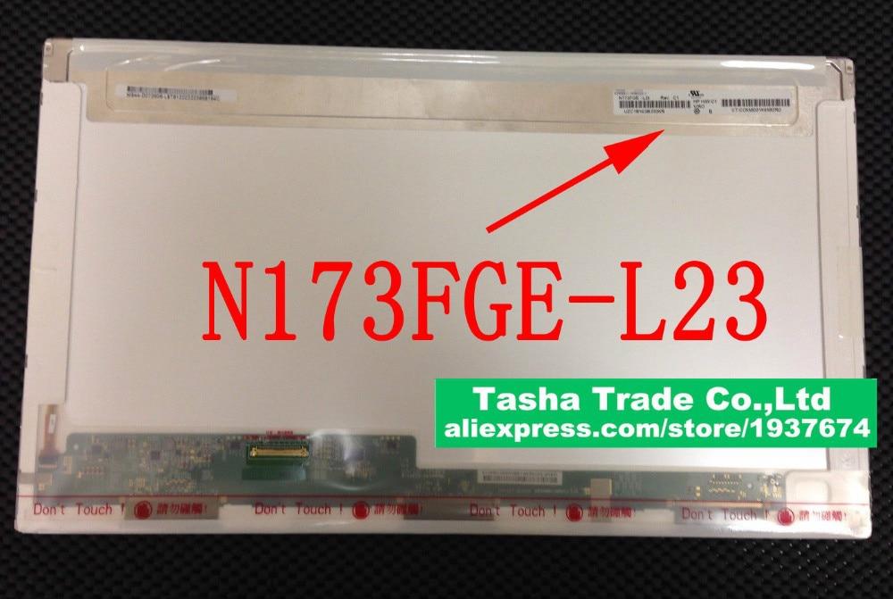 ChiMei N173FGE-L23 Rev.C1 N173FGE L23 for Lenovo Z710 Glossy Laptop LCD Screen 17.3 LED Display 1600*900 HD+ n173fge l23 c1 c3 new 17 3 led glossy hd lcd screen display laptop c 1 c 3