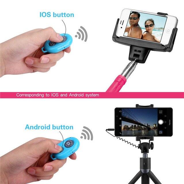 Pulsante di scatto per selfie accessorio controller fotocamera adattatore controllo foto pulsante remoto bluetooth per selfie 5