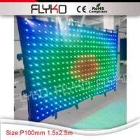 P100mm dot distance best price led display stage bar screen small size 1.5x2.5m video curtain dj lighting display