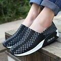Unisex zapatos de las mujeres Zapatos de MALLA de AIRE Respirable Femenina Oscilación ladyies transpirable plantilla cozy slip Zapatos Transpirables TAMAÑO 35-44