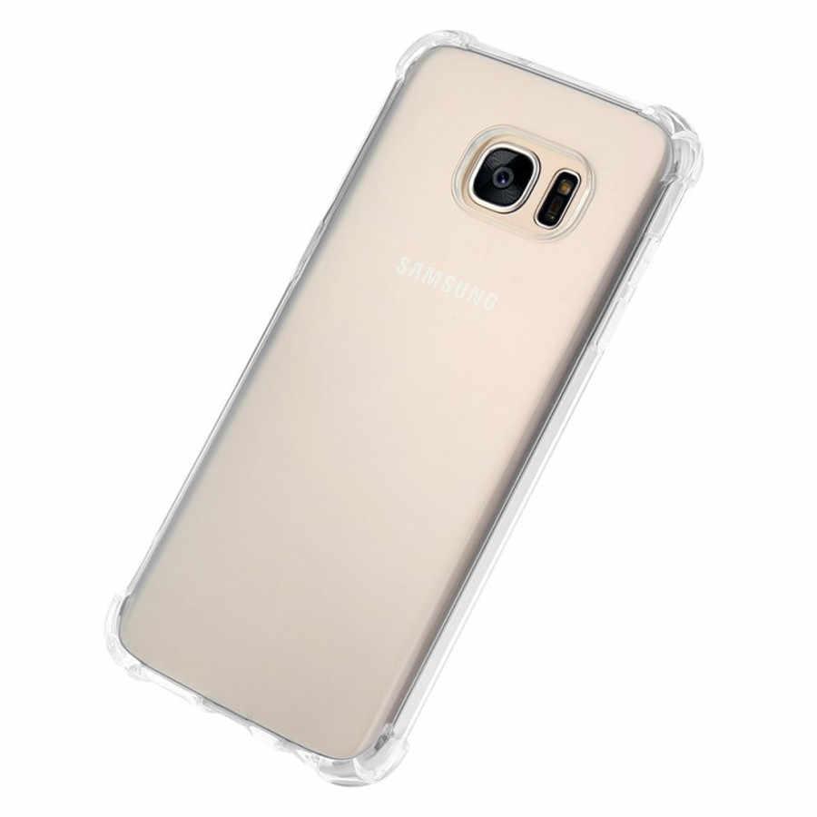 مضاد للخبط الهاتف حقيبة لهاتف سامسونج ملاحظة 9 8 5 4 S9 S8 A3 A5 A7 J3 J5 J7 برو 2017 a6 A8 زائد 2018 حالة غطاء كامل واقية الحالات