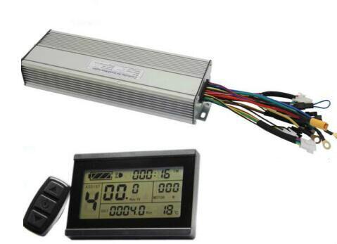 UE libre de impuestos Ebike 36 V 48 V LCD3 Panel 1500 W grasa controlador de 18 MOSFET 45A DC onda sinusoidal Reg función inversa bici eléctrica