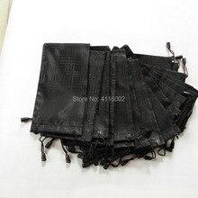 1000 шт./лот Чехол для очков мягкий водонепроницаемый клетчатый твердый тканевый чехол для солнцезащитных очков черный цвет