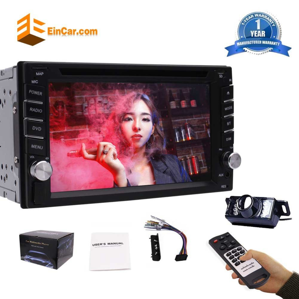 6.2 Double 2 DIN Car DVD CD Video Player Bluetooth Car Stereo Radio Head Unit Car PC Support AM/FM AUX USB/SD SWC+Backup Camera 1din car headunit fix panel car stereo car cd dvd player 1din usb sd fm aux in car radio player mp3 single din detachable panel