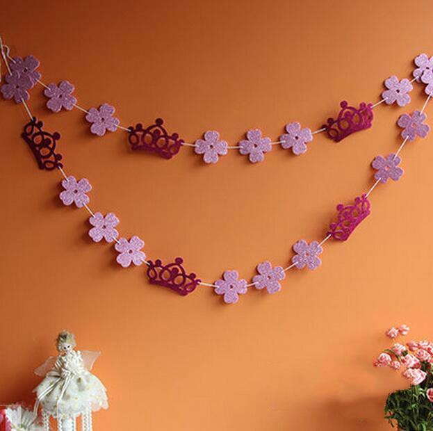 glitter EVA crown flower garland baby girl birthday Party Decoration Supplies photo props background layout