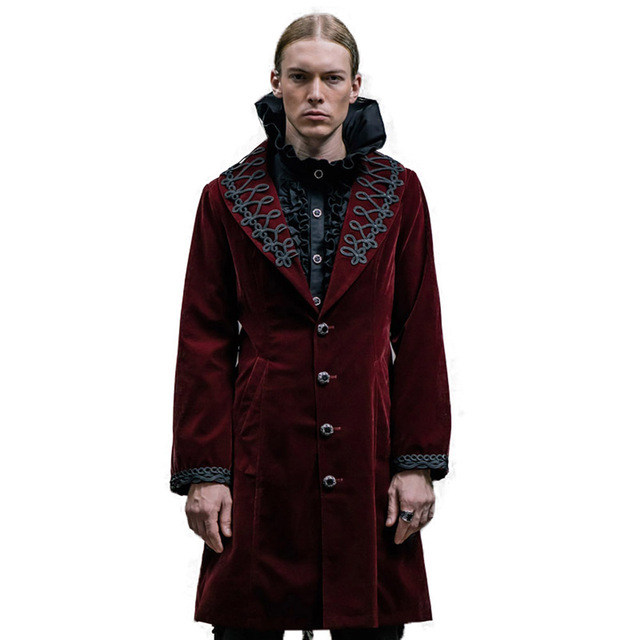 c2dc6296bab36f Devil Fashion Gothic Winter Wool Coat Men Punk Steampunk Long Sleeve Palace  Restoring British Trench Coat Blends Large Size 2016