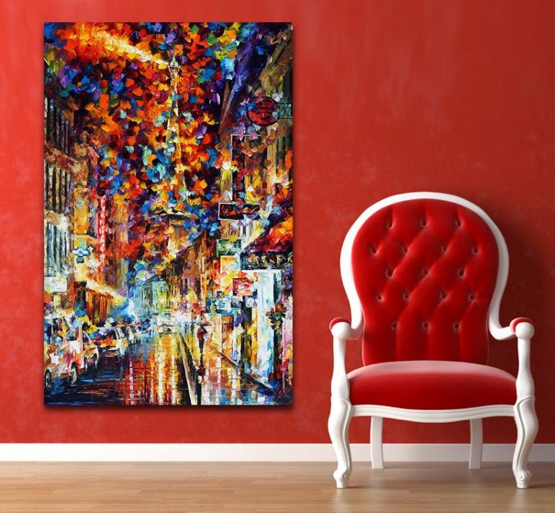 color de la paleta de pintura paisaje urbano de ensueo arte cuadro de