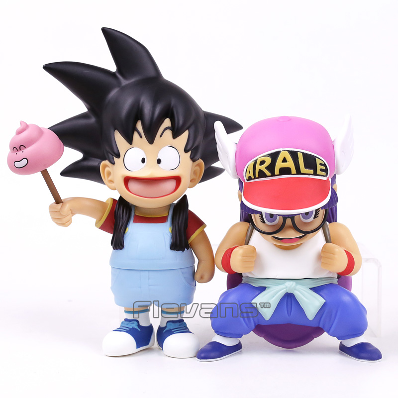 Son Goku Cosplay Arale / Arale Cosplay Son Goku PVC Action Figure Cartoon Funny Toy Christmas Gift 2 Styles 20pcs 1lot petshop cartoon pet shop patrulla canina toys action figure toy 778 minifigure christmas gift to kids