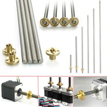 100-600mm 3D Printer T8 8mm Rod Lead Screw Nut Z Axis Linear Rail Bar Shaft High Quality