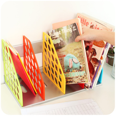Quality Plastic Book Shelf Desk Organizer Office Decorative Magazine File Book Holder Stand