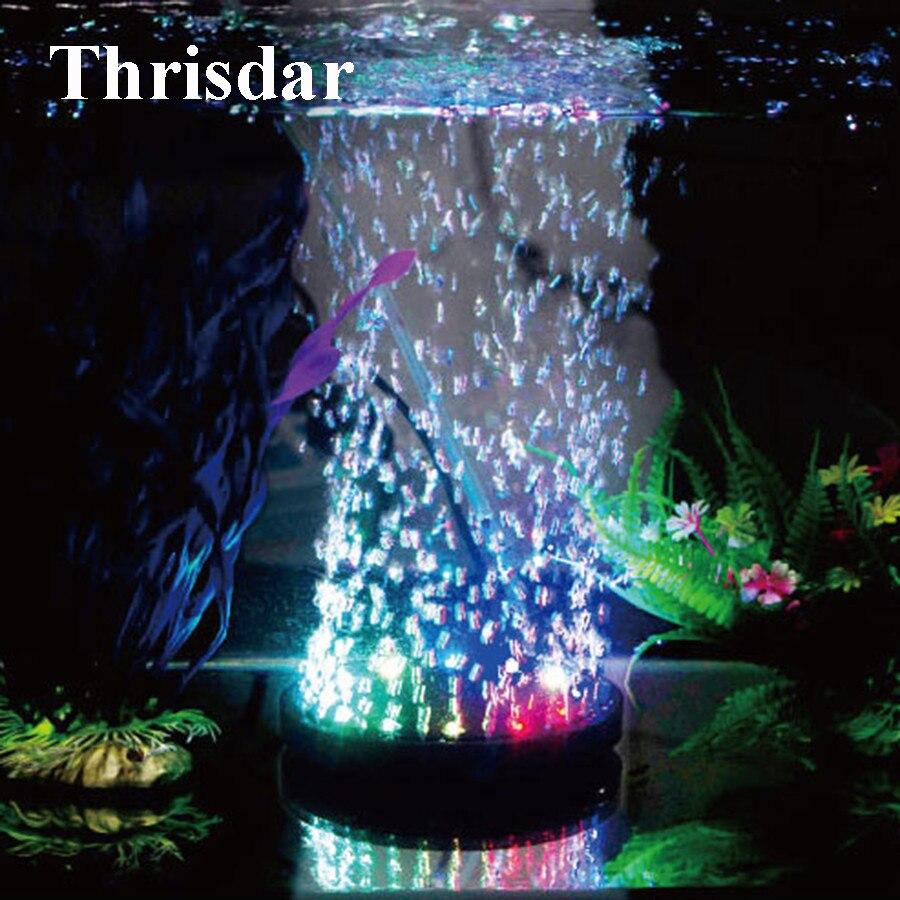 Thrisdar многоцветный Fish Tank Воздушный Пузырь Света LED Водонепроницаемый пламя форме подводный аквариум света подключен к кислорода насос ...
