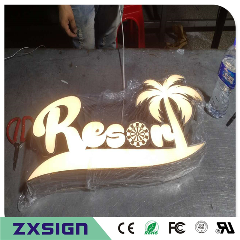Custom Outdoor Advertising Front Lit Acrylic Led Sign Making Custom Company Logo, Business Sign Channel Letters