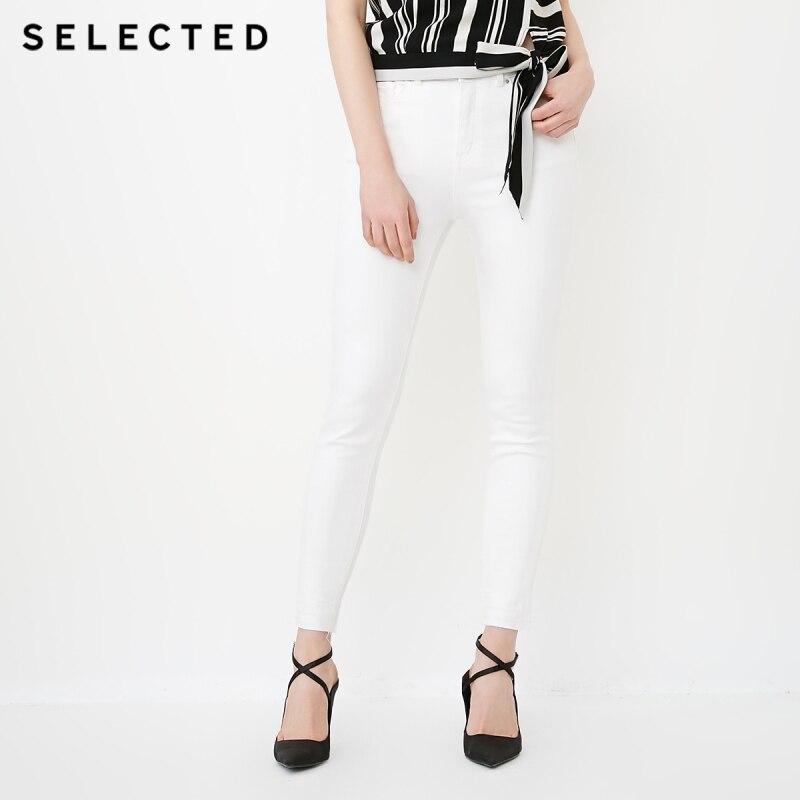 Jeans AusgewÄhlt Frauen Leichte Stretch Baumwolle-mischung Hohe-aufstieg Waschen Wirkung Dünne Jeans C Hosen 418232502