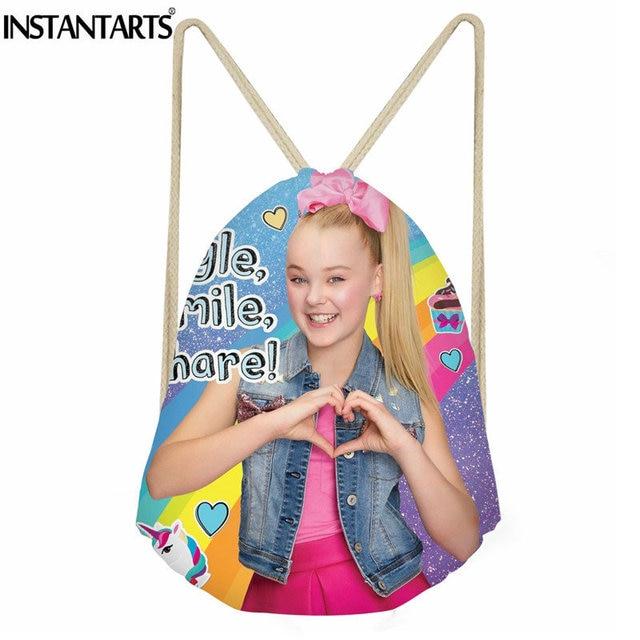 f76082f1134 INSTANTARTS Sport Gym Drawstring Bag Superstar JOJO Siwa Printing Outdoor  Women Fitness Shoes Cinch Sack Girls String Backpack