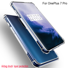 For OnePlus 7 Pro Air Cushion Case Clear Crystal Soft Silicone TPU Shockproof Full Protection Phone Cover For OnePlus 7Pro Cases