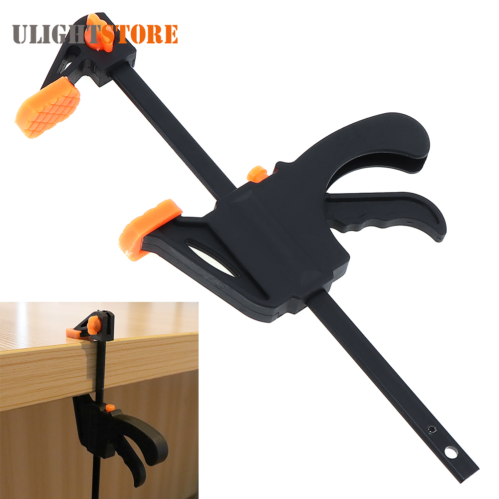 us $2.26 37% off|4 inch f clamps quick ratchet release speed squeeze  woodworking clamp clip kit spreader carpentry gadget diy hand tool work  bar-in