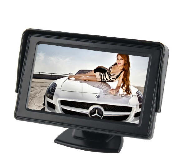Promotion 4.3 inch HD Car monitor Car Color TFT LCD Monitor Rearview DVD w/ PAL/NTSC free shipping Wholesale
