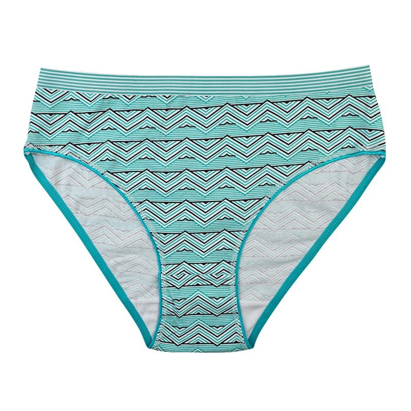 LOBBPAJA Lot 6 PCS Woman Underwear Cotton Plus Size Mid-Rise Geometric Sexy Ladies Mothers Briefs Panties Lingerie For Women