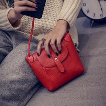 Women Red Bag Vintage Soft PU Leather Crossbody Bags Small S