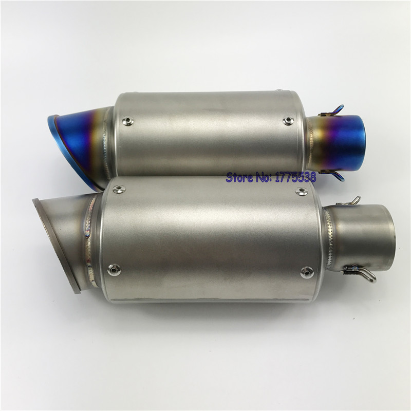 Universal ID:51mm L:275mm Imitation Titanium Motorcycle Exhaust Pipe Muffler Escape with DB Killer Motorbike Muffler Exhaust