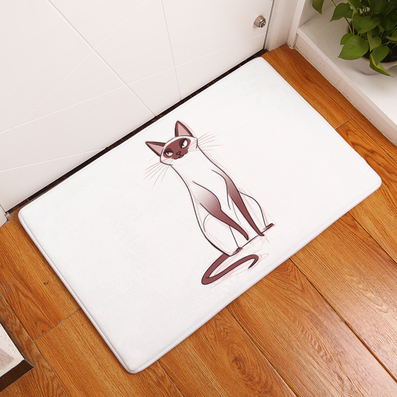 Cartoon Flannel Carpet Cats Printing Mat For Living Room 40x60cm 50X80cm  Door mat Rectangle Tapete - us138 4060b77ab4