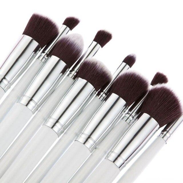 10 piezas ojo pinceles de maquillaje conjunto profesional de sombra de ojos sombra de pinceles de maquillaje herramienta Shader mezcla pinceles de maquillaje conjunto NL