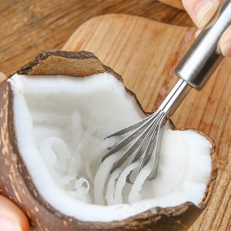 Нержавеющая сталь кокосовое мясо терки функциональный фруктовый, овощной слайсер царапины для рыбы инструменты для взвешивания Кухонные гаджеты аксессуары