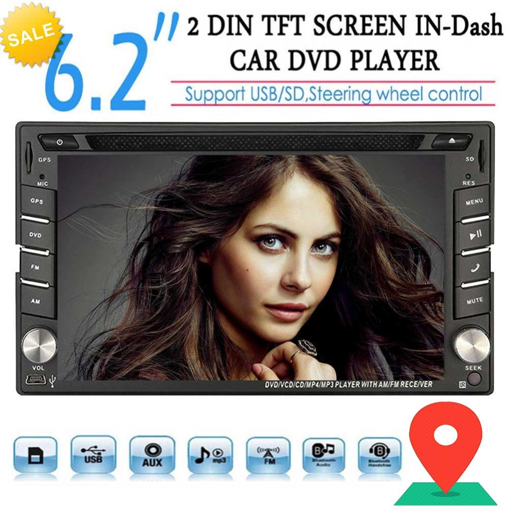 EinCar Universal Double 2 Din In center console Car CD DVD Player GPS Navigation Touch Screen Stereo Radio Bluetooth Navigation cleaning brush kit long handle cleaner for fish tank