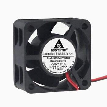 цена на 5PCS Gdstime 4020 12V 2Pin 40x40x20mm 40mm DC Cooling Cooler Fan