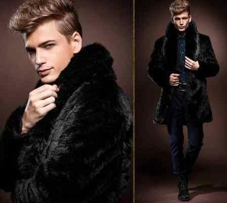 Плюс Размеры 2019 Для мужчин зима-осень верхняя одежда, пальто Теплые черные элегантные для маленьких мальчиков пальто из искусственного меха Меховой Куртка с воротником 7XL 6XL пальто Y10