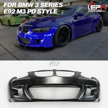 FRP передний бампер для BMW E92 M3 PD стиль широкий корпус из стекловолокна передний бампер комплект тюнинг отделка часть для E92 M3 Racing