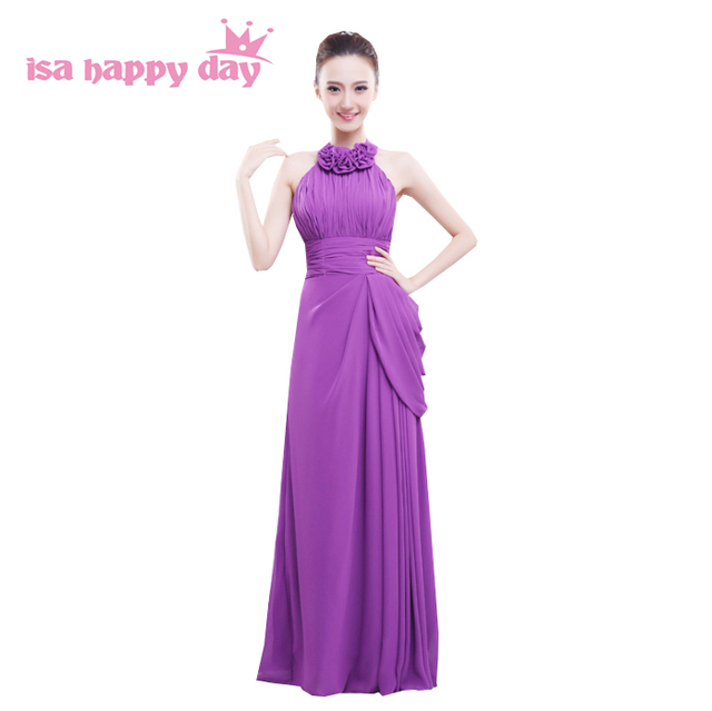 mix different style sweet long purple maid of bride adult party ...