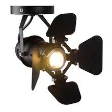 OYGROUP Vintage Mini Base para lámpara de celdas iluminación Industrial lámparas Retro ajustables para las luces de techo de la barra de café # OY16C04D-small