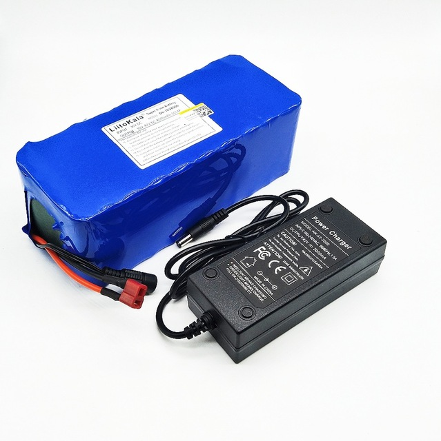 Liitokala 18650 batterie au lithium 36 v 8AH vélo électrique 500 w avec PVC électrique bicyclette logement 42 v 2A chargeur